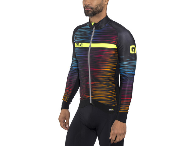 Alé Cycling Graphics PRR The End Maillot manga larga Hombre, black-multicolor-yellow-fluo